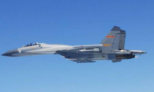 Một chiến đấu cơ Su-27 của Trung Quốc. Ảnh: Reuters.