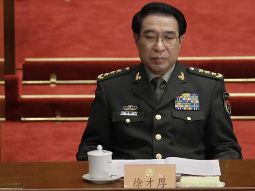 Thượng tướngTừ Tài Hậu, nguyên phó chủ tịch quân ủy trung ương Trung Quốc. Ảnh:
