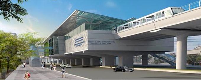 Thiết kế ga ngầm của tuyến metro hơn một tỷ USD ở thủ đô