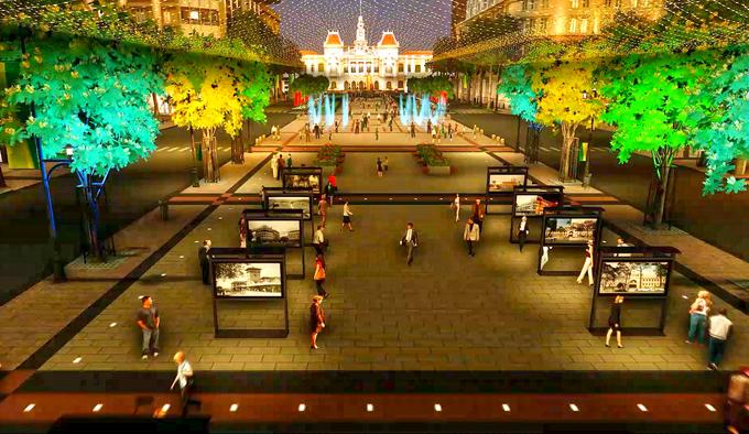Quảng trường đi bộ Nguyễn Huệ trong tương lai