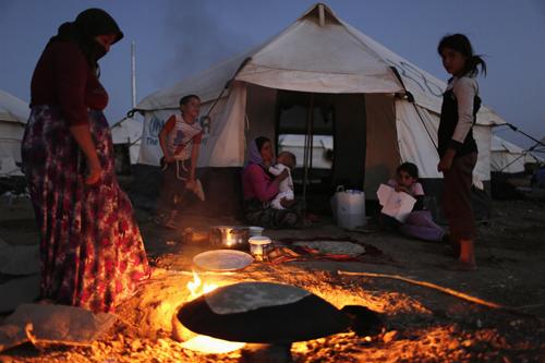tBajed Kadal refugee camp, southwest ofDohuk