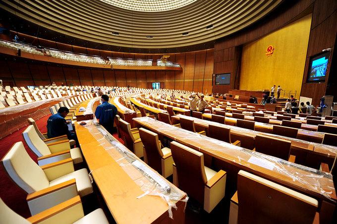 Bên trong tòa nhà Quốc hội mới