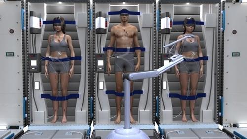 Phi hành đoàn được đưa vào trạng thái ngủ đông trong sứ mệnh lên sao Hỏa. Ảnh: Mark Elwood