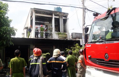 Căn nhà xảy ra hỏa hoạn chết người. Ảnh: An Nhơn