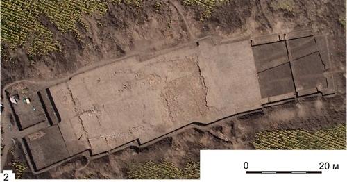 Ngôi đền trong khu định cư thời tiền sử khổng lồ ở Ucraina. Ảnh: Nataliya Burdo/Mykhailo Videiko