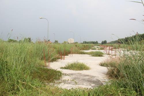Nhiều dự án rào chắn xung quanh nhưng bên trong chỉ là cỏ, có chăng chỉ có những móng công trình đổ lên rồi để đó.