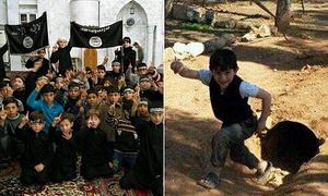 Các tay súng IS tẩy não trẻ em Syria như thế nào