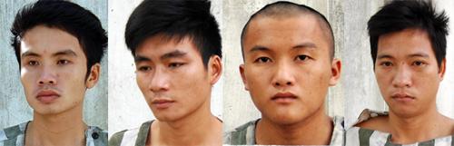Nhóm cướp bị bắt giữ. Ảnh: Nguyệt Triều