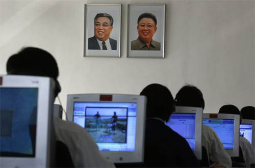 mber 2012, North Korean students use computers at the Kim Chaek University of Technology in Pyongyang
