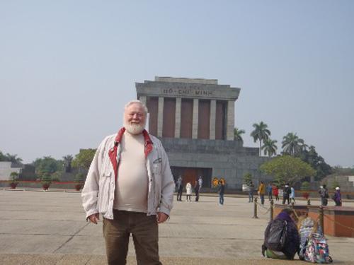 Ông Huebner trong chuyến thăm Việt Năm năm ngoái. Ảnh: Nhân vật cung cấp
