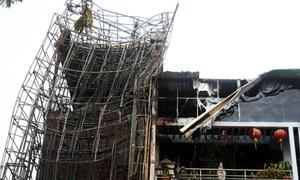 Tan hoang sau vụ cháy 8 nhà ở trung tâm Sài Gòn