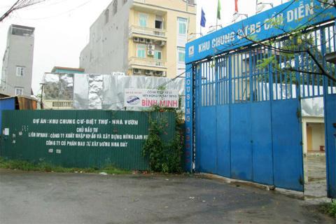 Dự án nhà chung cư B5 do Housing Group Công ty TNHH MTV Xuất nhập khẩu và Đầu tư xây dựng phát triển Hà Nội