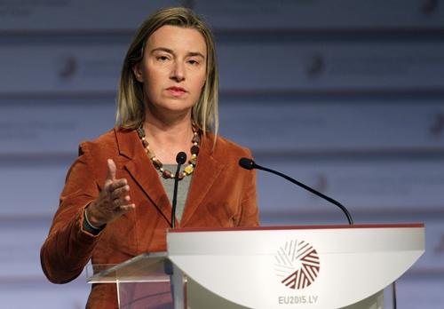 Bà Federica Mogherini,Trưởng ban Chính sách Đối ngoại của Liên minh châu Âu. Ảnh: Reuters