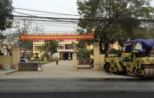 Bệnh viện Đa khoa TP Thanh Hóa, nơi có hai cán bộ bị phát hiện dùng bằng giả. Ảnh: Lê Hoàng.