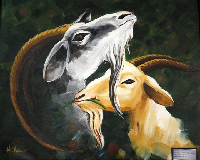 Nghệ sĩ Đà Nẵng vẽ dê
