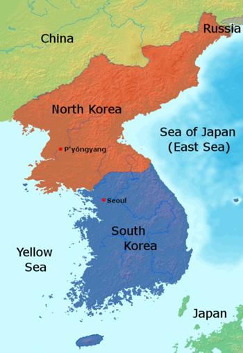 Vị trí của Đông Hai (Biển Nhật Bản). Đồ họa: Wikimedia