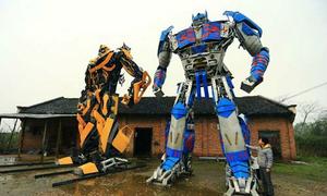 Nông dân chế tạo Transformer từ sắt phế thải
