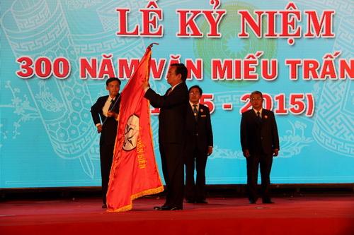 Trung tâm Văn miếu Trấn Biên được Chủ tịch nước trao tặng Huân chương lao động hạng 3. Ảnh: Hoàng Trường