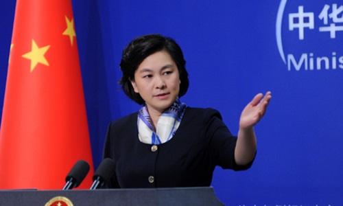 bà Hoa Xuân Doanh, người phát ngôn Bộ Ngoại giao Trung Quốc. Ảnh: fmprc.gov.cn.