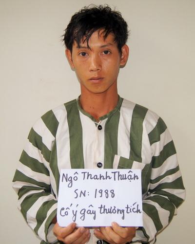 Ngô Thanh Thuận bị bắt giữ sau nhiều tháng lẩn trốn. Ảnh: Nguyệt Triều