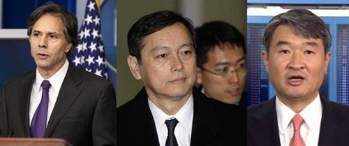 Từ trái sang: Thứ trưởng Ngoại giao Hàn Quốc Cho Tae-yong, Thứ trưởng Ngoại giao Nhật Bản Akitaka Saiki và Thứ trưởng Ngoại giao