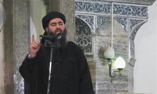 Abu Bakr al-Baghdadi, thủ lĩnh lực lượng Nhà nước Hồi giáo. Ảnh: AP.
