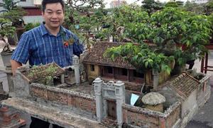 Nhà quê Bắc bộ được thu nhỏ như thật trong chậu bonsai