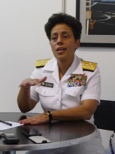 Đô Đốc Michelle Howard, Phó tư lệnh tác chiến của hải quân Mỹ. Ảnh: