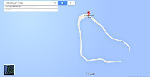 Vị trí và hình ảnh của bãi cạnScarborough trên Google Maps hiện nay. Ảnh:Google Maps