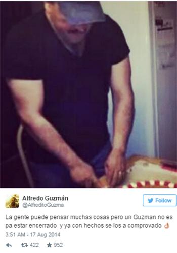 Tài khoản được cho làcủa con trai Guzman,Alfredo