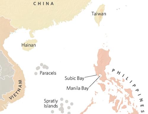 Vị trí Vịnh Subic của Philippines. Đồ họa:globalbalita