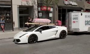 Lamborghini Gallardo thành xe chở hàng