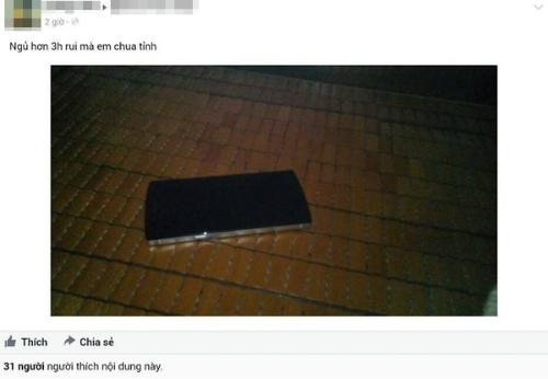Một người dùng chia sẻ hình ảnh chiếc BPhone bị sập nguồn hơn 3 tiếng.