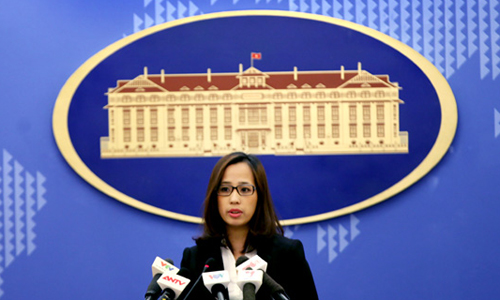 Phó phát ngôn viên Bộ Ngoại giao Việt Nam Phạm Thu Hằng