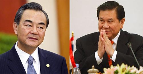 Ngoại trưởng Trung Quốc Vương Nghị (trái) vàNgoại trưởng Thái Lan Tanasak Patimapragorn. Ảnh: Reuters,nextlevelriders
