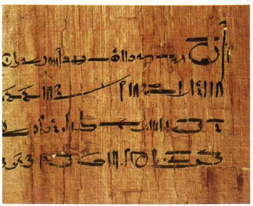 Ảnh chụp chi tiết một bản hợp đồng cổ đòi quyền trợ cấp hàng năm của phụ nữ Ai Cập. Ảnh: Viện Đông Phương.