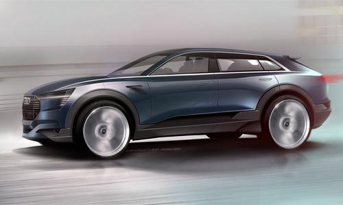 Audi E-Tron Quattro Concept sẽ trình làng tại Frankfurt Auto Show 2015.