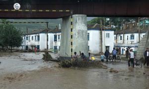 Mưa lớn do bão Goni ở Triều Tiên, 40 người chết