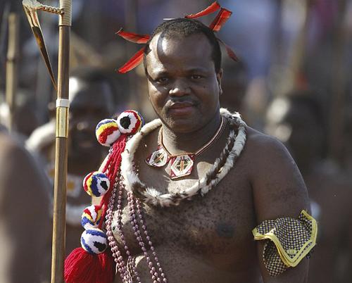 Quốc vươngMswati. Ảnh: Reuters