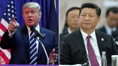 Ứng viên đảng Cộng hoà Donald Trump và Chủ tịch Trung Quốc Tập Cận Bình. Ảnh: MMC