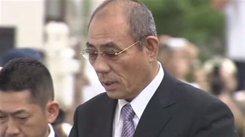 Kunio Inoue, thủ lĩnh của nhóm tội phạm mới tách ra từYamaguchi-gumi. Ảnh:tokyoreporter