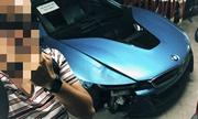 BMW i8 của thiếu gia Hà Nội gặp tai nạn vỡ đầu xe