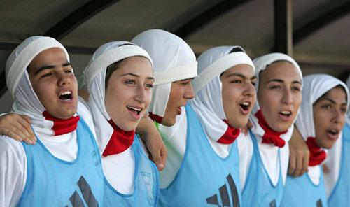 Đội tuyểnbóng đá nữ Iran nhiều lần dính phải rắc rối về giới tính. Ảnh:worldsoccer