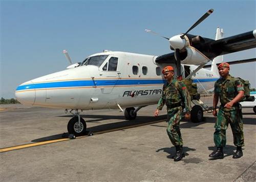 Chiếc Twin Otter DHC-6 tương tự chiếc rơi ở tỉnh Nam Sulawesi, Indonesia. Ảnh: AP