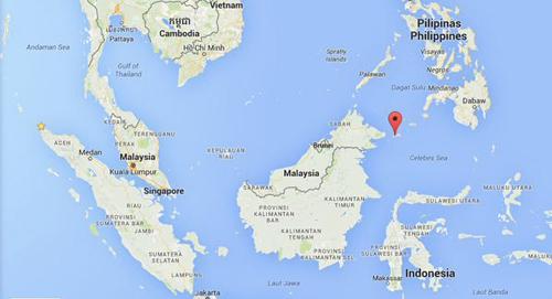 Vị trí đảo Sugbay, thuộc tỉnh Tawi Tawi, Philippines. Đồ họa:Twitter