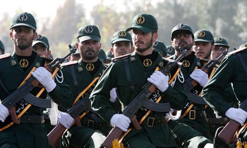 ực lượng Vệ binh Quốc gia Iran. Ảnh: AP