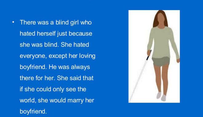 Truyện ngắn tiếng Anh: Câu chuyện về cô gái mù