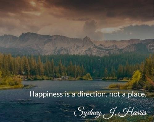 Hạnh phúc không phải là một điểm đến, mà là một hướng đi.