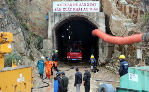 Hầm thủy điện Đạ Dâng. Ảnh: Phước Tuấn