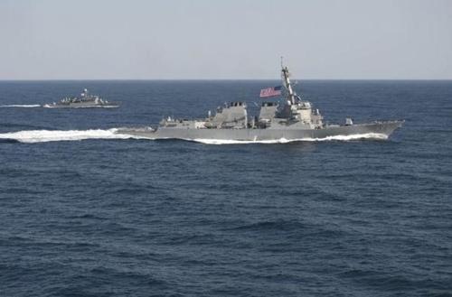 Tàu khu trục tên lửa dẫn đường USS Lassen. Ảnh: Reuters.